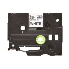 Banda laminata compatibila BROTHER TZE-FX221, Negru/Alb, 9mm x 8m