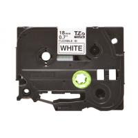 Banda laminata compatibila BROTHER TZE-FX241, Negru/Alb, 18mm x 8m
