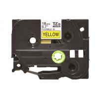 Banda laminata compatibila BROTHER TZE-FX641, Negru/Galben, 18mm x 8m